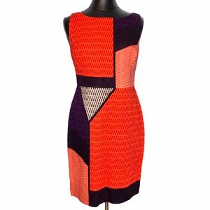 Anthropologie Tabitha Swallowtail Colorblock Dress
